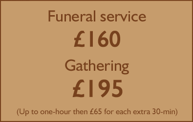 How much does funeral singer Simon Partridge charge?